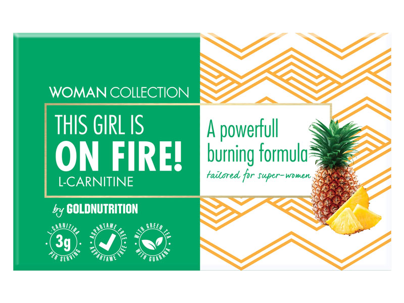 ON FIRE! Ananas balení 15 ampulí - L-Karnitin, spalovač tuků | Woman - 1